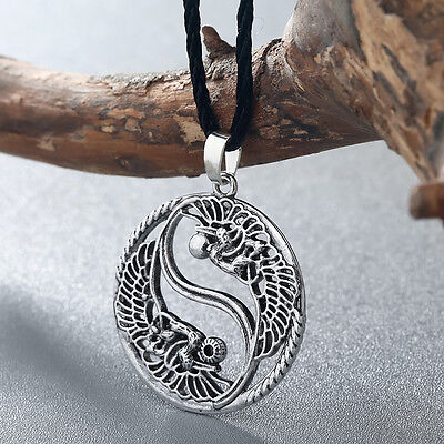 Chinese Taoism Sign Ancient Eight Diagrams Pendant Necklace Yin Yang Jewelry