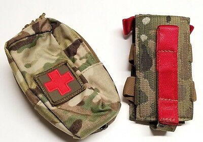 ATS Tactical Gear MultiCam Slimline Mini IFAK System Pouch MOLLE First Aid Kit