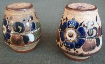 Netzi Mexico Sandstone Pottery Hand Painted Cancun Salt Pepper Shakers