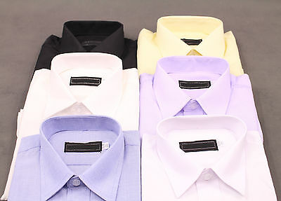 New Boys Dress Formal Wedding Button Color Shirts Size 00-17