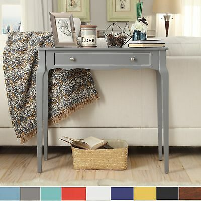 Wood Entryway Console Sofa Table Storage Drawer Rustic Accent Furniture