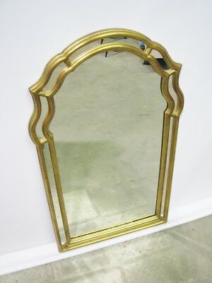 Elegant Friedman Brothers Mirror; Divided Frame & Gold Leaf Finish Queen Anne