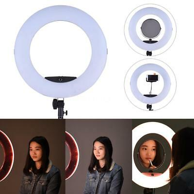 "17.7"" Dimmable Photography LED Diva Ring Light 5500K Studio Continuous Lighting"
