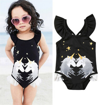 AU Kid Baby Girl Unicorn Tankini Bikini Swimwear Swimsuit Bathing Suit Beachwear