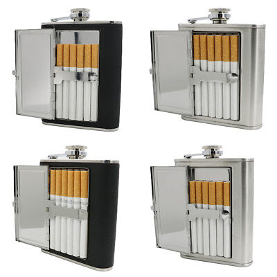 Cigarette Case 5/6oz Stainless Steel Hip Flask Wine Liquor Alcohol Drinkware AS