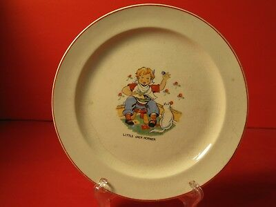 "Vintage Hand Painted Child's Plate"" Little Jack Horner"""