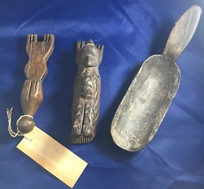 Handcrafted Carved African Style Tools