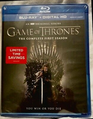 GAME OF THRONES The Complete First 1 Season One Blu-ray+Digital, 5-Disc Set NEW