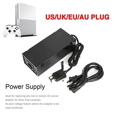AC Adapter Mains Power Supply Brick for Microsoft Xbox One + Power Cord LOT GZ
