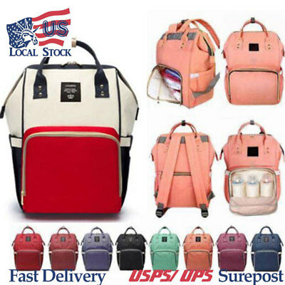 LEQUEEN Mummy Maternity Nappy Diaper Bag Big Capacity Baby Bag Travel Backpack