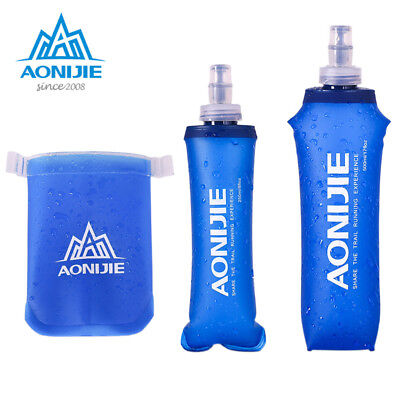 New AONIJIE Foldable Soft Flask TPU Outdoor Sport Running Water Bottle 250 500ml