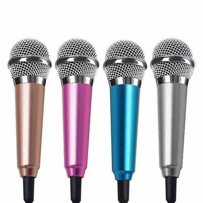 US Mini Stereo Microphone Mic For Android iPhone PC Chatting Singing Karaoke