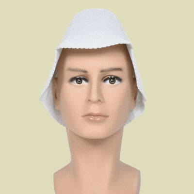 White Sauna Hat Cap Room Head Protection Unisex Bathroom Spa Accessory Supply