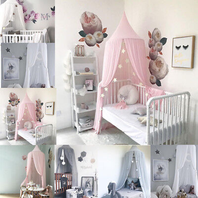 1PC Kids Baby Bed Canopy Bedcover Mosquito Net Curtain Bedding Dome Tent Cotton