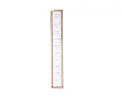 115cm Baby Poem Height Chart Growth Measuring Scale Graph - WHITE