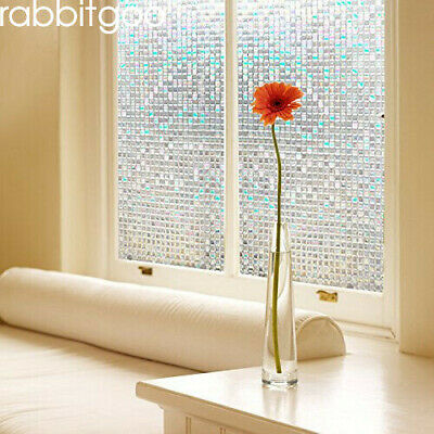 "RABBITGOO 3D window films privacy static cling Anti UV 17.7""x78.7""(45x200CM)"