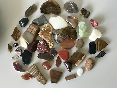 653Gms Of Assorted Tumbled Gemstones