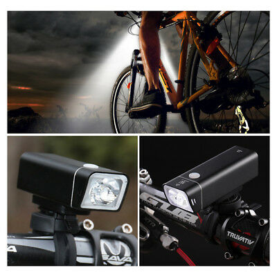 Waterproof Bike Bicycle LED Front Light USB Rechargeable Headlight Riding Lamp#Q