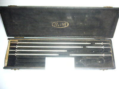 Vintage 'Moore & Wright' Depth Micrometer Rods Only + Case      (3194)