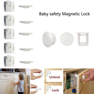 Magnetic Cabinet Locks Child Proof Cupboards Drawer Invisible Baby Safety Kits