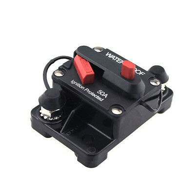 Car Auto Boat Ignition Protected 50 Amp Manual Reset Button Circuit Breaker