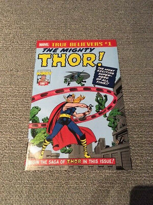 TRUE BELIEVERS - The Mighty Thor # 1 NEW Journey Into Mystery Reprint