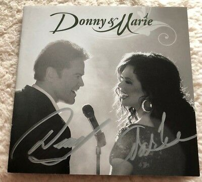 DONNY AND MARIE OSMOND  CD Signed AUTOGRAPHED