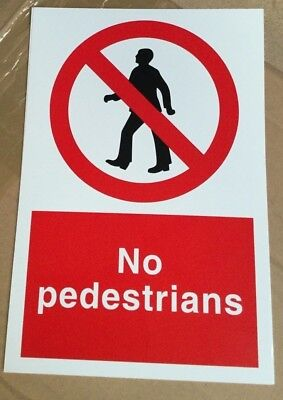 Prohibition Sign - No Pedestrians - 300x200mm Safety Signs