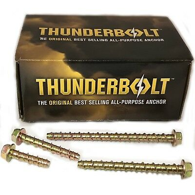 Genuine Thunderbolt M6 Flange Head Bolt New Masonry Concrete Brick Anchor Screw