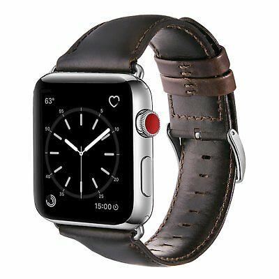 Genuine Leather Watch Band Strap For Apple Watch Series 1 2 3 4 5 iwatch 38/42mm