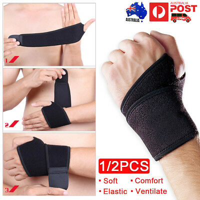 Wrist Support Brace Pain Relief Strap Arthritis Carpal Tunnel Sprain CTS RSI Gym