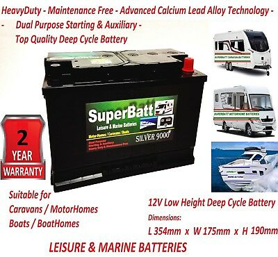 Leisure Battery > LOW HEIGHT PROFILE > Deep Cycle > 12 V 12V LM110