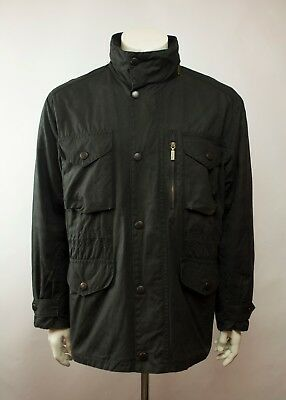 Barbour Sapper Waxed Jacket Navy Size L