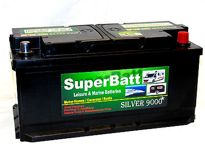 12V 100Ah Lh100 Deep Cycle Leisure Battery - Low Height Profile - Dual Purpose