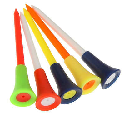 """Hot 50x 83mm 3 1/4"""" Plastic Rubber Tip Cushion Soft Golf Tipped Tees"""