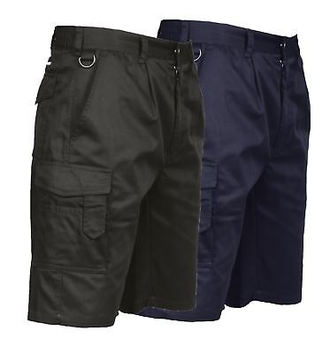 Portwest Combat Shorts Elasticated Waist Work Cargo Durable Pockets S790
