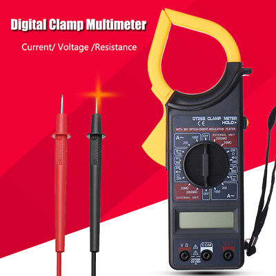 LCD Digital Clamp Multimeter Amp Meter AC Current DC Voltage Volt Tester Probe