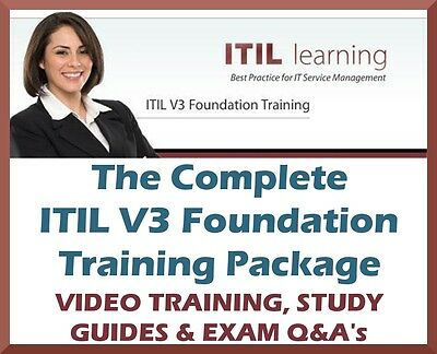 ITIL V3 FOUNDATION TRAINING PACKAGE - MP4 Videos, Study Guides + Exam Questions!