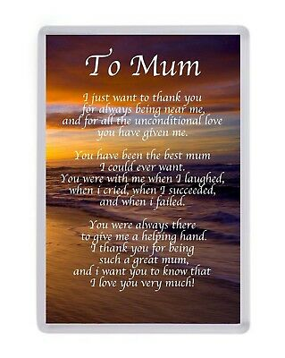 Personalised To Mum Fridge Magnet Birthday Present Christmas Gift Mothers Day