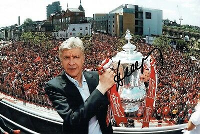 Arsene WENGER Signed Autograph 12x8 Photo AFTAL COA Arsenal Manager Gunners RARE