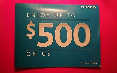 **EXPIRED** Chase $500 Bonus: $300 Checking $200 Savings- NOW or FAST SHIP!