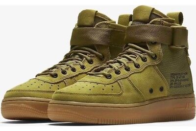 low priced 9f1bd ffa57 Nike SF Air Force 1 Mid Big Kids AJ0424-300 Desert Sand Suede Shoes Size