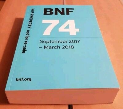 BNF 74 (British National Formulary) September 2017-March 2018 (Latest)