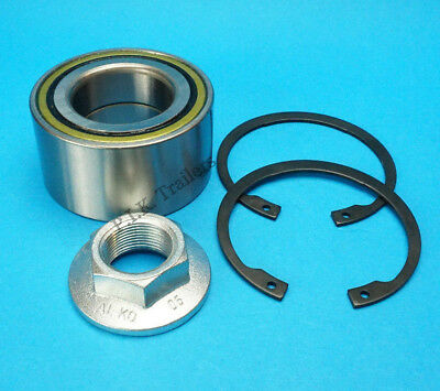 1 x Trailer Wheel Bearing 311396 Circlip & Nut for ALKO 581169 & Knott #KIT 119