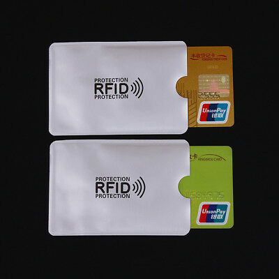 Credit Card Passport RFID Protector Case Blocking Sleeve Shield Holder Secure
