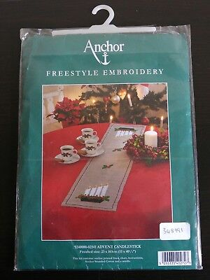 Anchor Freestyle Embroidery - Advent Candlestick Table Runner - Embroidery Kit