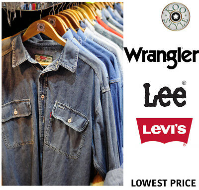 Random Vintage Lee Levi's Wrangler Denim Shirts Unisex Men Women