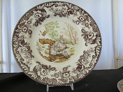 """Spode Woodland """"Snow Shoe Rabbit"""" Dinner Plate - Retired - Made in England"""