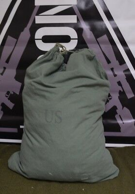US Army Barracks Bag, 100% Cotton Large Laundry Bag, Military Issue