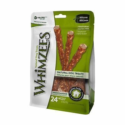 WHIMZEES Natural Grain Free Dental Dog Treats, Veggie Sausage Small (28 Count)